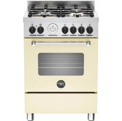 Bertazzoni Master Series MAS60-4-MFE-S-CRE 60cm Dual Fuel Cooker - Cream - A Rated Best Price, Cheapest Prices