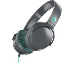 SKULLCANDY Riff S5PXY-L637 Headphones - Grey & Miami Blue Best Price, Cheapest Prices