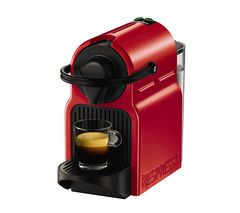 NESPRESSO by Krups Inissia XN100540 Coffee Machine - Ruby Red Best Price, Cheapest Prices