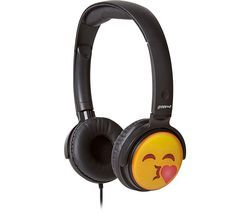 GROOV-E GV-EMJ14 EarMOJI's Kissing Face Kids Headphones - Black Best Price, Cheapest Prices