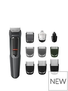 Philips Philips Series 3000 10-in-1 Multi Grooming Kit for Beard, Hair and Body with Nose Trimmer Attachment - MG3747/33 Best Price, Cheapest Prices
