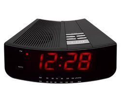 LOGIK LCRAN12 FM/AM Clock Radio - Black Best Price, Cheapest Prices