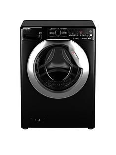 Hoover DWOA411AHC8B-80 11kgLoad, 1400 Spin Washing Machine - Black/Chrome door Best Price, Cheapest Prices