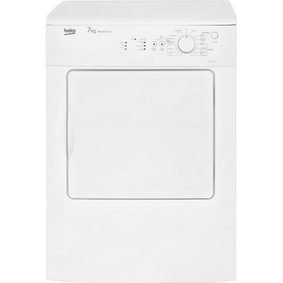 Beko DRVS73W 7Kg Vented Tumble Dryer - White - C Rated Best Price, Cheapest Prices