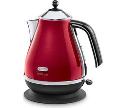 DELONGHI Micalite KBOM3001R Jug Kettle - Red Best Price, Cheapest Prices