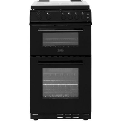 Belling FS50GTCL Gas Cooker with Full Width Gas Grill - Black - A Rated Best Price, Cheapest Prices