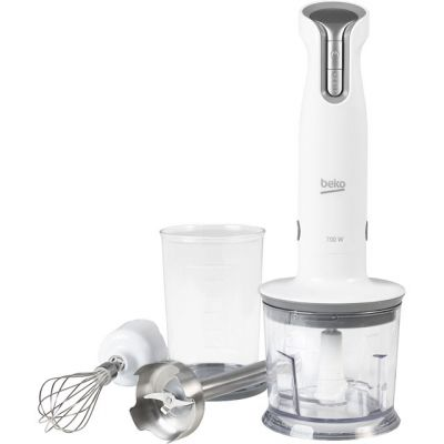 Beko HBA6700W Hand Blender with 2 Accessories - White Best Price, Cheapest Prices