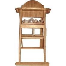 East Coast Wooden Folding Highchair - Natural Colour Best Price, Cheapest Prices
