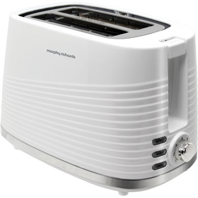 Morphy Richards Dune 220029 2 Slice Toaster - White Best Price, Cheapest Prices
