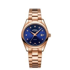 Rotary Ladies Diamond Rose Gold Coloured Bracelet Watch Best Price, Cheapest Prices