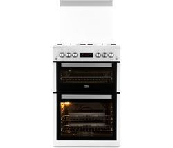 BEKO Pro XDVG675NTW 60 cm Gas Cooker - White Best Price, Cheapest Prices