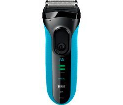 BRAUN Series 3 3040S Wet & Dry Shaver - Black & Blue Best Price, Cheapest Prices