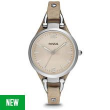 Fossil Ladies' Georgia ES2830 Bone Leather Strap Watch Best Price, Cheapest Prices