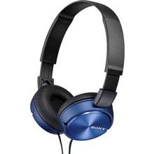 Sony ZX310 On-Ear Headphones - Blue Best Price, Cheapest Prices