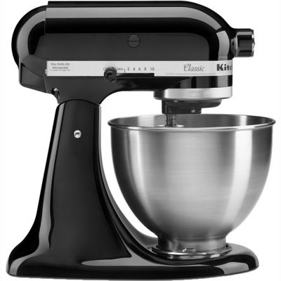 KitchenAid 5K45SSBOB Stand Mixer with 4.3 Litre Bowl - Black Best Price, Cheapest Prices