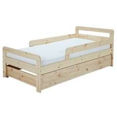 Argos Home Ellis Pine Toddler Bed with Drawer Best Price, Cheapest Prices