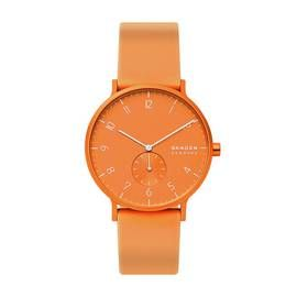 Skagen Kulor Neon Orange Silicone Strap Watch Best Price, Cheapest Prices