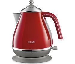 DELONGHI Icona Capitals KBOC3001.R Jug Kettle - Red Best Price, Cheapest Prices