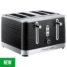 Russell Hobbs 24381 Inspire 4 Slice Toaster – Black Best Price, Cheapest Prices