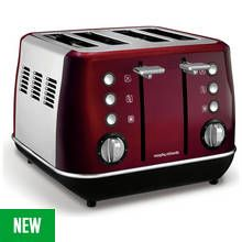 Morphy Richards 240108 Evoke 4 Slice Toaster - Red Best Price, Cheapest Prices