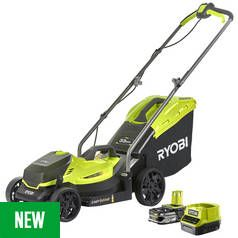 Ryobi RLM18C33B25 2.5Ah Cordless Lawnmower - 18V Best Price, Cheapest Prices