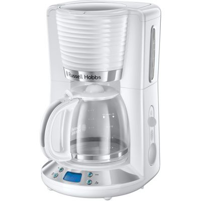 Russell Hobbs Inspire 24390 Filter Coffee Machine - White Best Price, Cheapest Prices