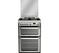 HOTPOINT Ultima HUG61X 60 cm Gas Cooker - Stainless Steel Best Price, Cheapest Prices