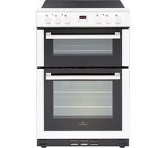 NEW WORLD NW 60EDOMC WHT 60 cm Electric Ceramic Cooker - White Best Price, Cheapest Prices