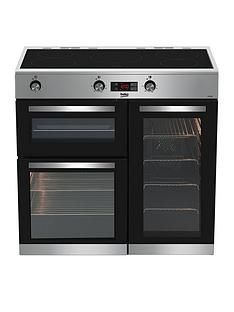 Beko KDVI90X 90cm Electric Range Cooker - Stainless Steel Best Price, Cheapest Prices