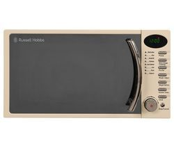 RUSSELL HOBBS RHM1714CC Compact Solo Microwave - Cream Best Price, Cheapest Prices