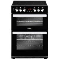Belling 444410818 Cookcentre 60E 60cm Double Oven Electric Cooker With Ceramic Hob - Black Best Price, Cheapest Prices