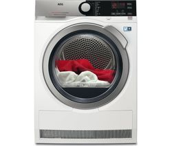 AEG AbsoluteCare T8DEE945R Heat Pump Tumble Dryer - White Best Price, Cheapest Prices