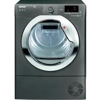 Hoover DXC10DCER Dynamic Next Aquavision 10kg Freestanding Condenser Sensor Tumble Dryer - Graphite With Chrome Door Best Price, Cheapest Prices
