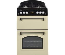 LEISURE CLA60GAC 60 cm Gas Cooker - Cream & Black Best Price, Cheapest Prices