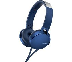 SONY Extra Bass MDR-XB550AP Headphones - Blue Best Price, Cheapest Prices