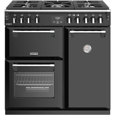 Stoves Richmond Deluxe S900G 90cm Gas Range Cooker - Black - A/A Rated Best Price, Cheapest Prices