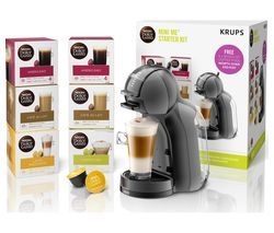 DOLCE GUSTO by Krups Mini Me KP120841 Coffee Machine Starter Kit - Black & Grey Best Price, Cheapest Prices