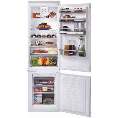 Hoover BHBF182NUK Integrated 70/30 Frost Free Fridge Freezer with Sliding Door Fixing Kit - White - A+ Rated Best Price, Cheapest Prices