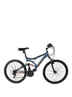 Muddyfox Heist Dual Suspension Mens Mountain Bike 18 Inch Frame Best Price, Cheapest Prices