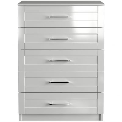 One-Call Colby Gloss 5 Drawer Chest