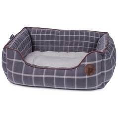 Petface Grey Window Check Square Dog Bed - Medium Best Price, Cheapest Prices