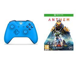 XBOX ONE Anthem & Xbox Wireless Controller Bundle - Blue Best Price, Cheapest Prices