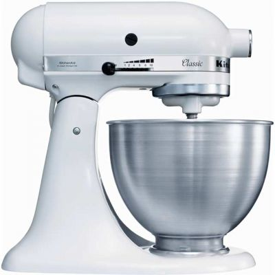 KitchenAid 5K45SS Stand Mixer with 4.3 Litre Bowl - White Best Price, Cheapest Prices