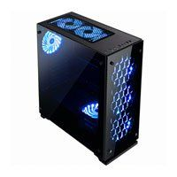 GameMax Onyx RGB Mid Tower Computer Chassis, Tempered Glass, LED Colour Control Button, 3x 120mm RGB Fans, USB 3.0 Best Price, Cheapest Prices