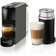 Nespresso by Krups Essenza Pod Coffee Machine Bundle - Grey Best Price, Cheapest Prices