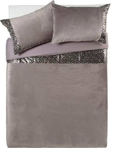 Argos Home Sequin Leopard Print Bedding Set - Double Best Price, Cheapest Prices