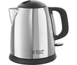 RUSSELL HOBBS Classic 24990 Compact Jug Kettle - Black & Silver Best Price, Cheapest Prices