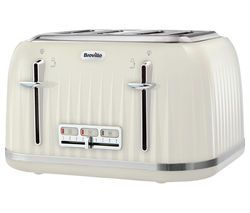BREVILLE Impressions VTT702 4-Slice Toaster - Vanilla Cream Best Price, Cheapest Prices