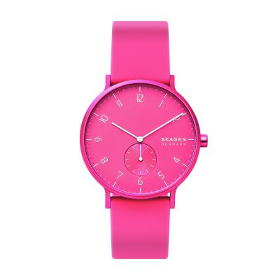 Skagen Kulor Neon Pink Silicone Strap Watch Best Price, Cheapest Prices