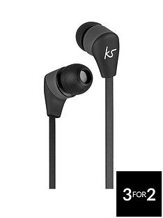 Kitsound Bounce Wireless Bluetooth In-Ear Headphones with Track Controls – Black Best Price, Cheapest Prices